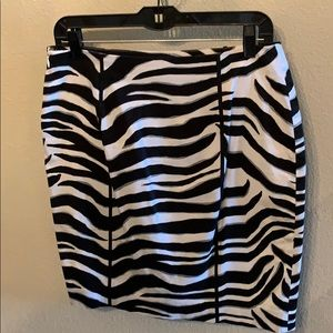 White House Black Market Skirts - Zebra pencil skirt